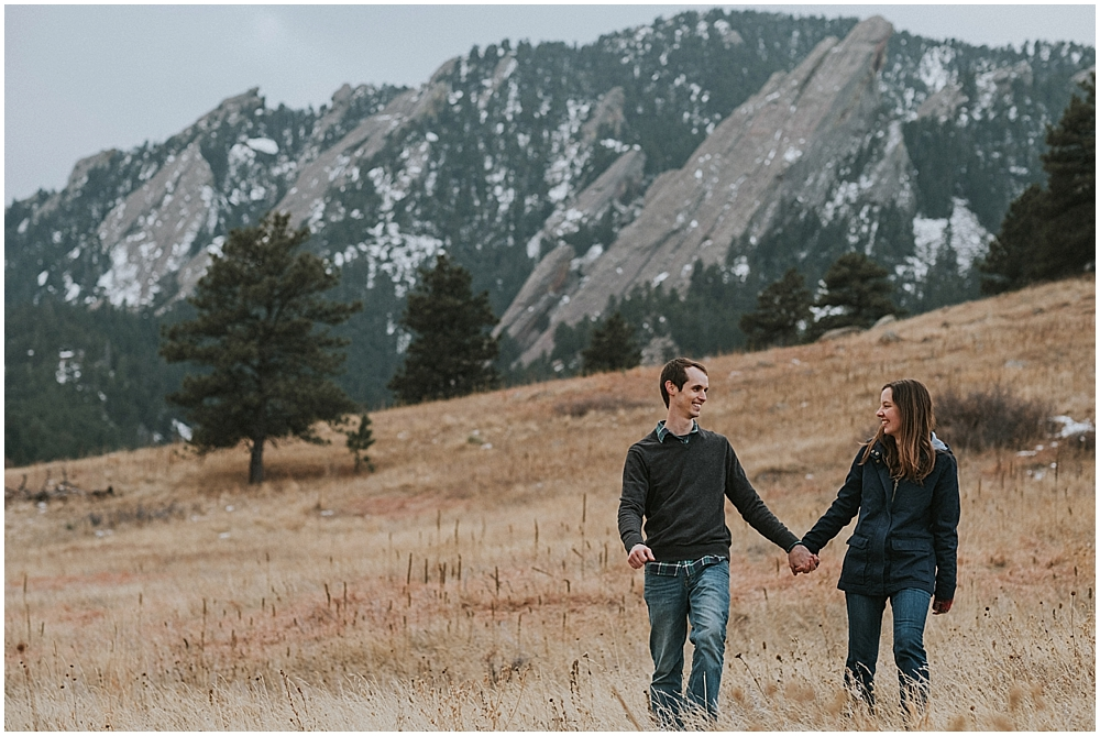 The Flatirons engagement session