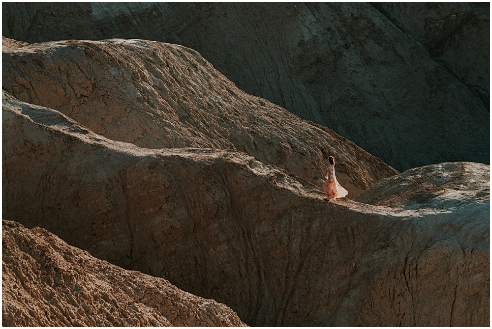 Bride in Death Valley Zabriskie Point