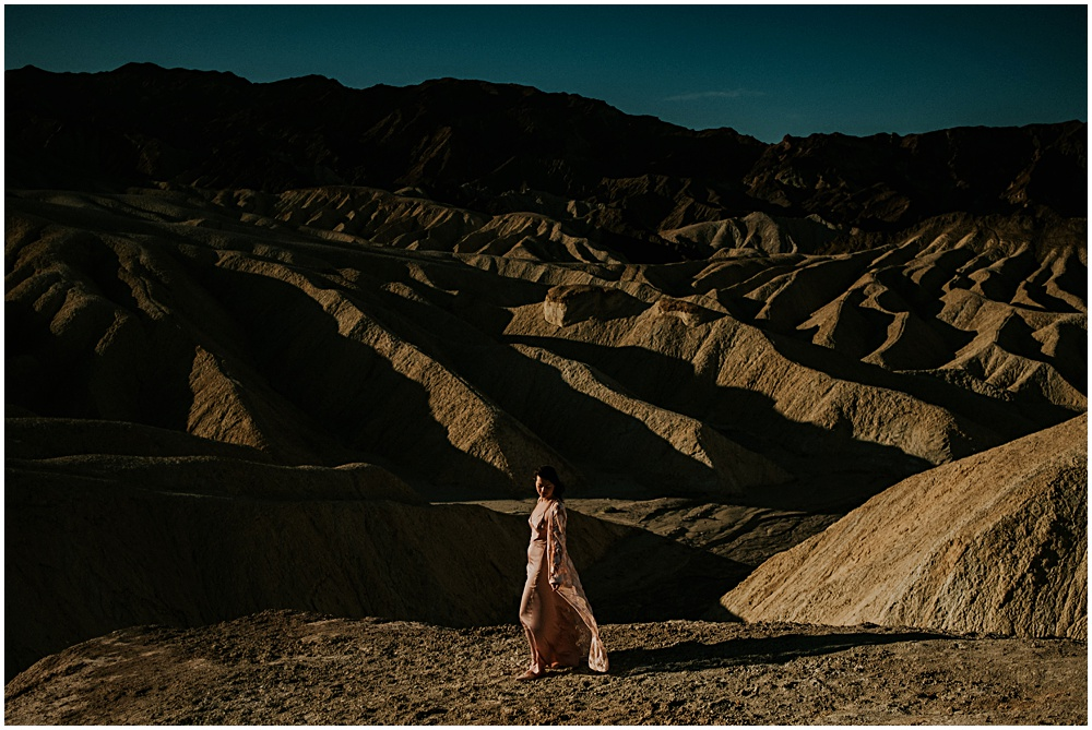Adventurous elopement in Death Valley California