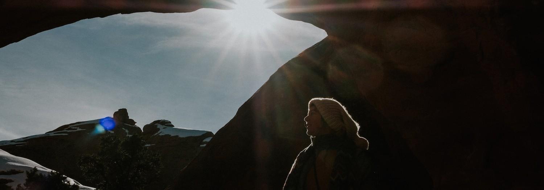 Utah   Snowy Devils Garden Hike in Arches National Park