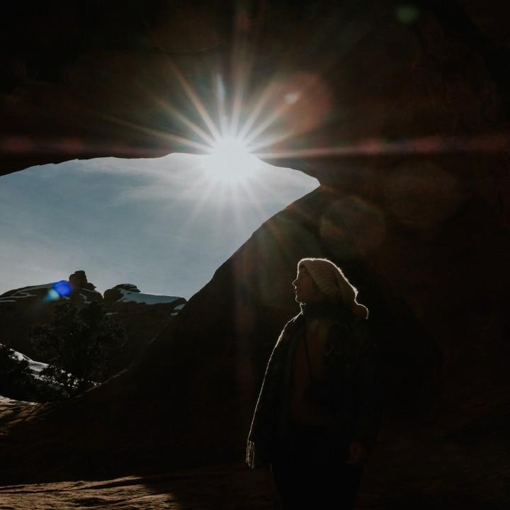 Utah | Snowy Devils Garden Hike in Arches National Park