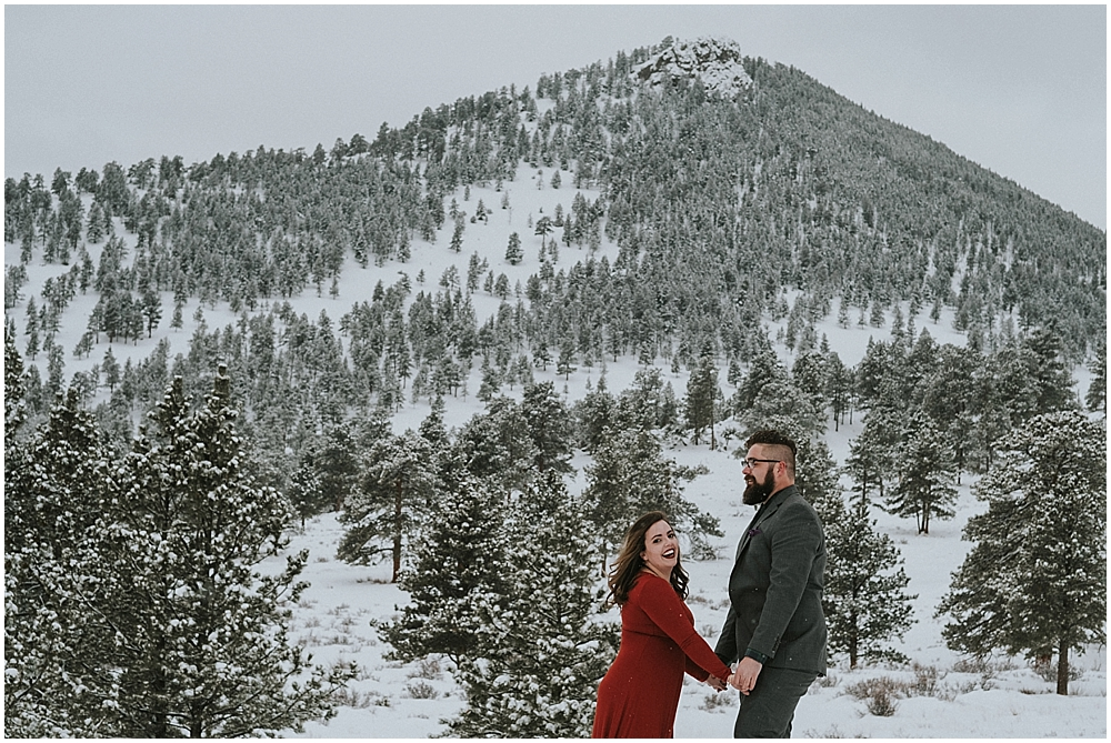 winter wedding Rocky Mountain National Park