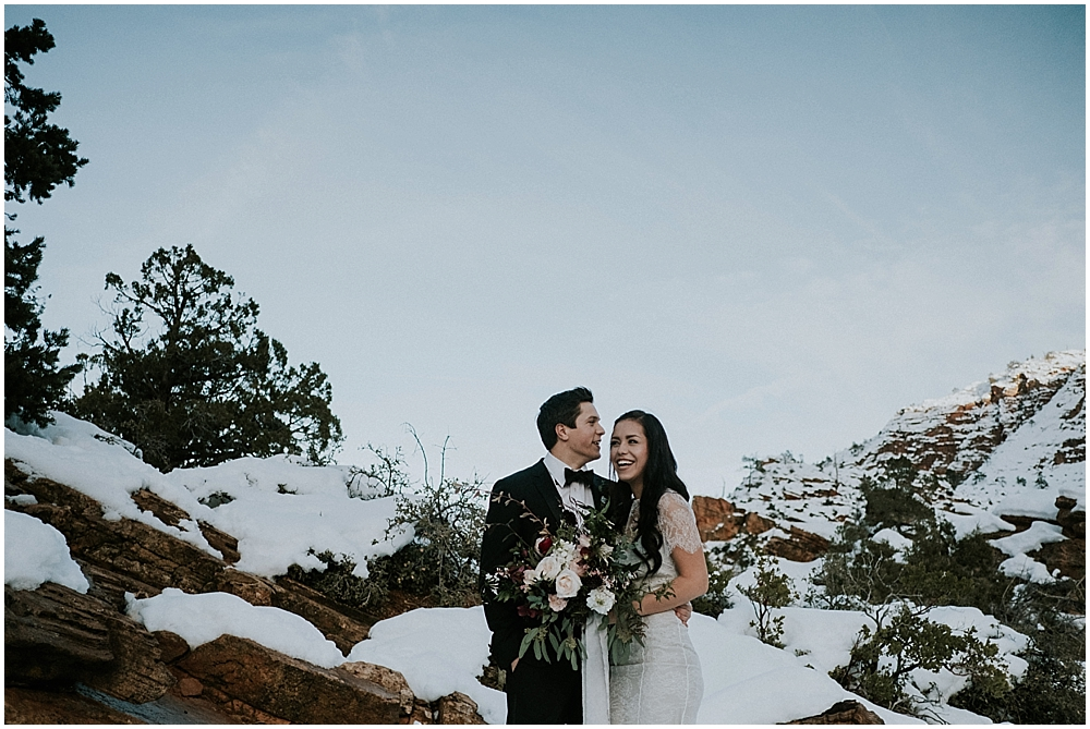 Wedding in Zion Utah
