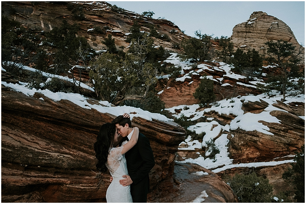 Elopement in Zion Utah