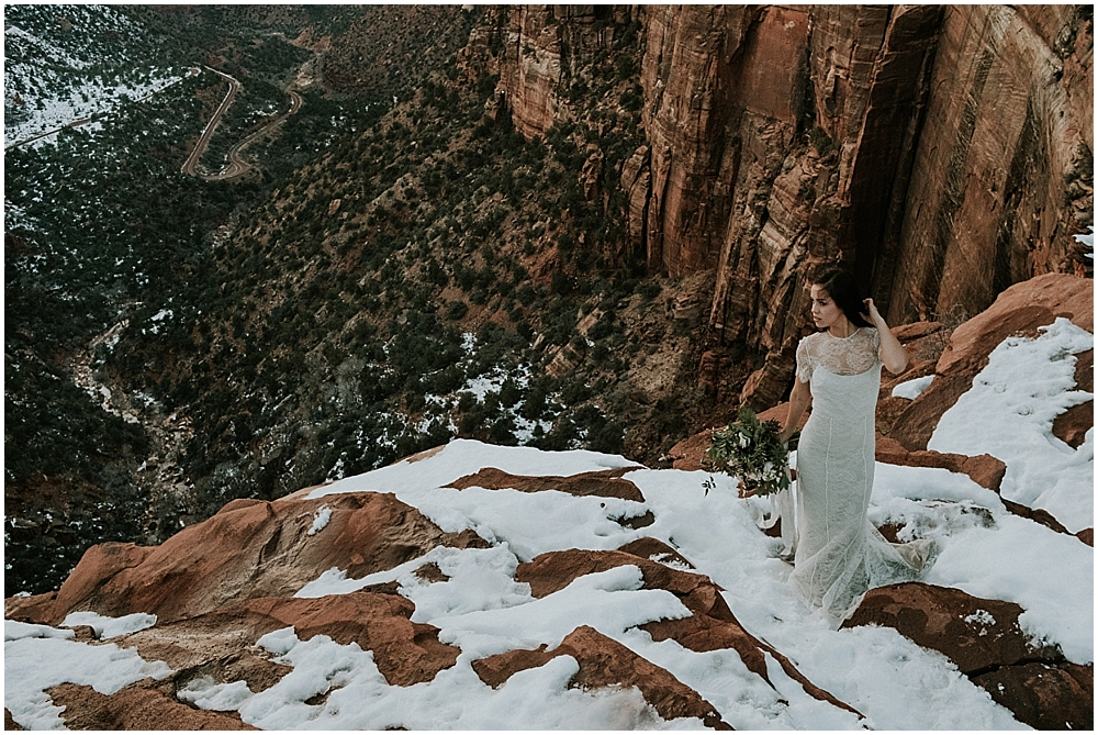 Outdoor wedding in Zion National Park