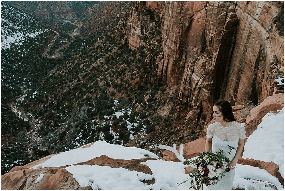 Wedding at Canyon Overlook Zion National Park