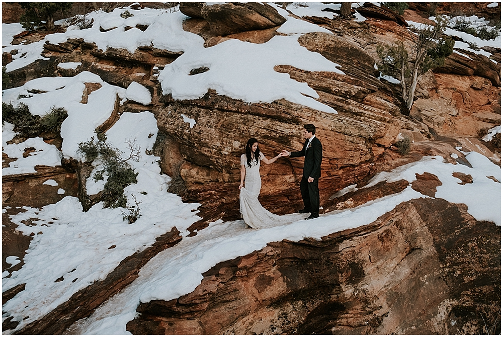Angels Landing Wedding Zion