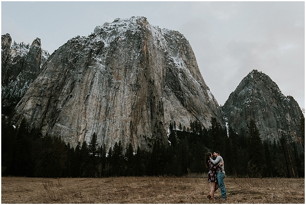 winter elopement Yosemite National Park