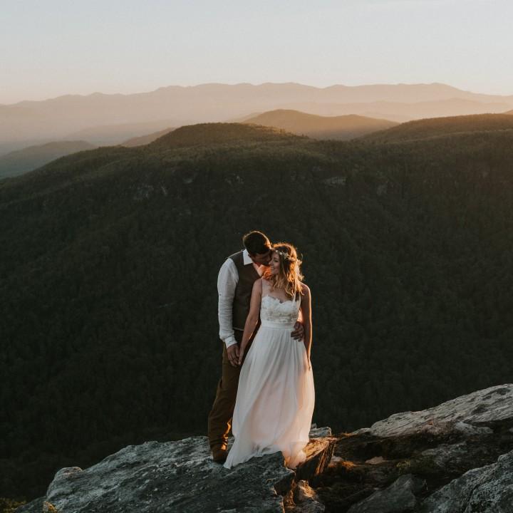 Lauren+ Ben | Asheville Mountaintop Elopement