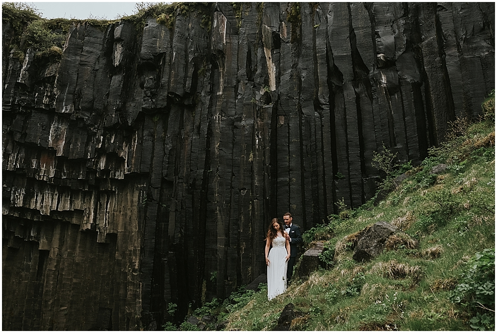 Svartifoss waterfall elopement Iceland