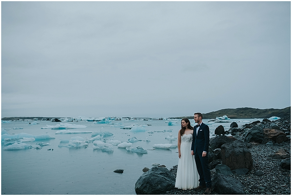 Jökulsárlón iceland elopement