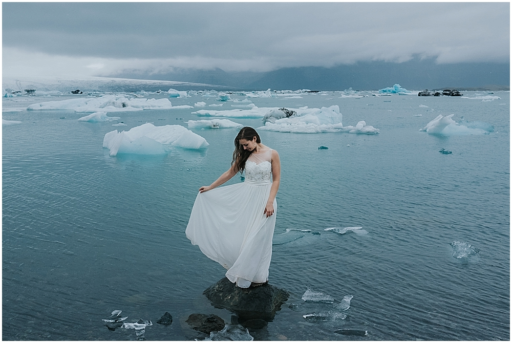 Iceland winter elopement