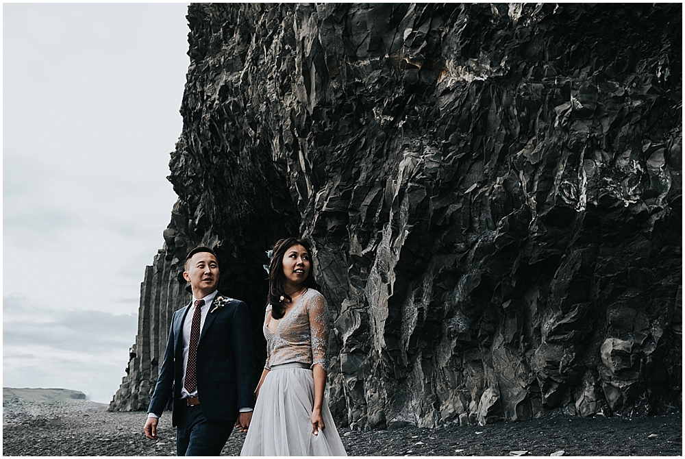 Reynisfjara beach elopement