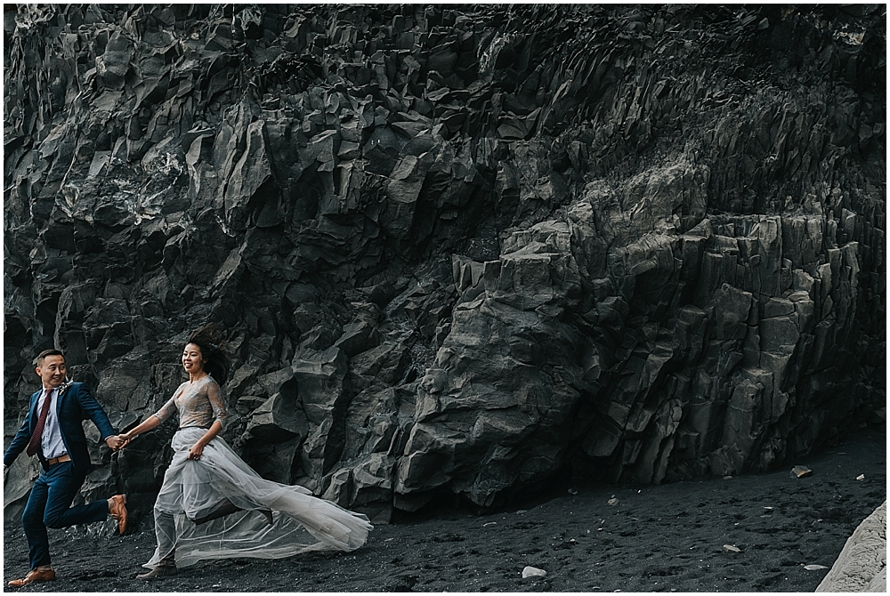 wedding at Reynisfjara beach