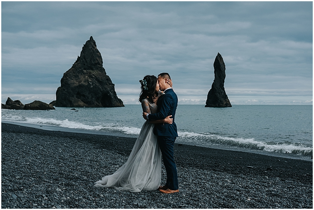 Reynisfjara beach Vik wedding photographer