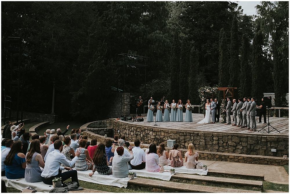 Raleigh Rose Garden wedding ceremony