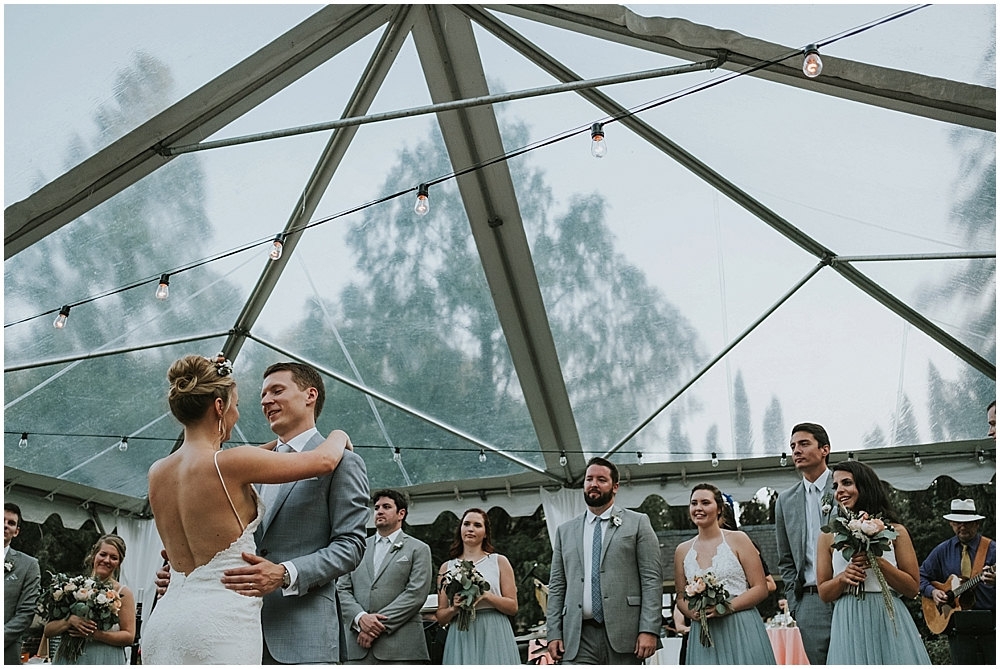 Raleigh NC Outdoor wedding reception