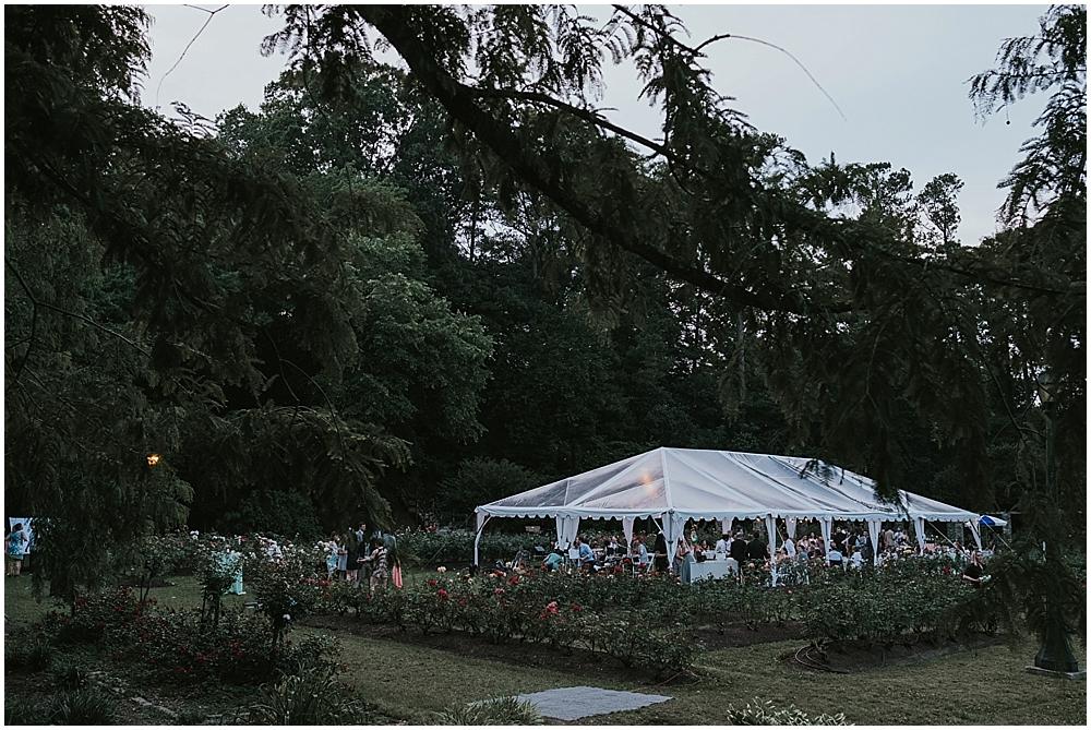 Raleigh Municipal Rose Garden wedding