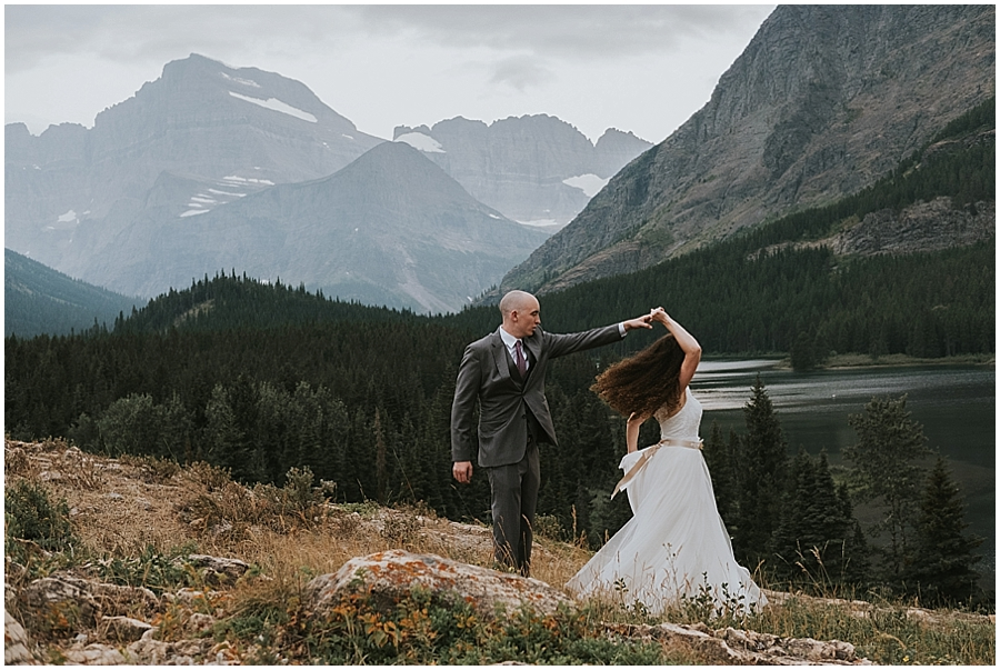 Wedding at Lake McDonald Montana