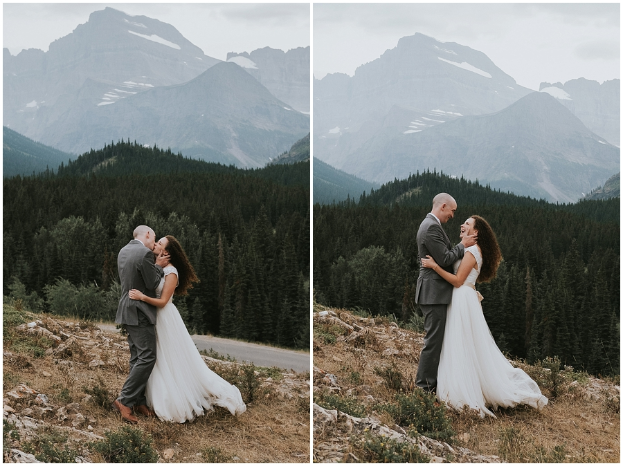 Eloped in Glacier National Park