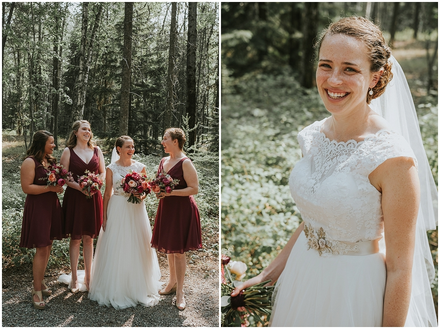 Kalispell outdoor wedding