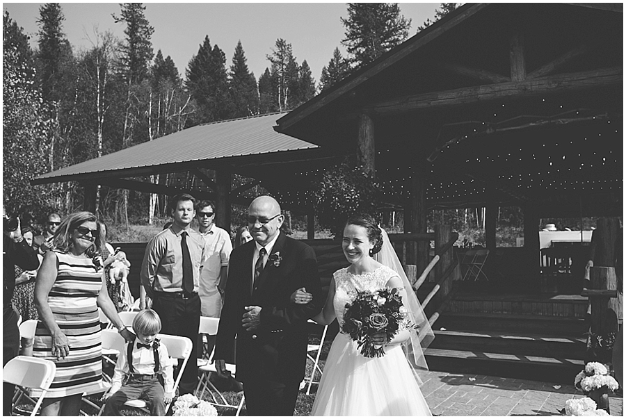 Kalispell outdoor wedding venue