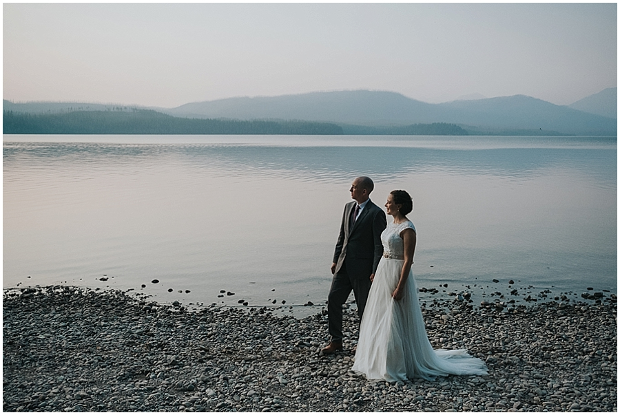 Lake McDonald Montana elopement