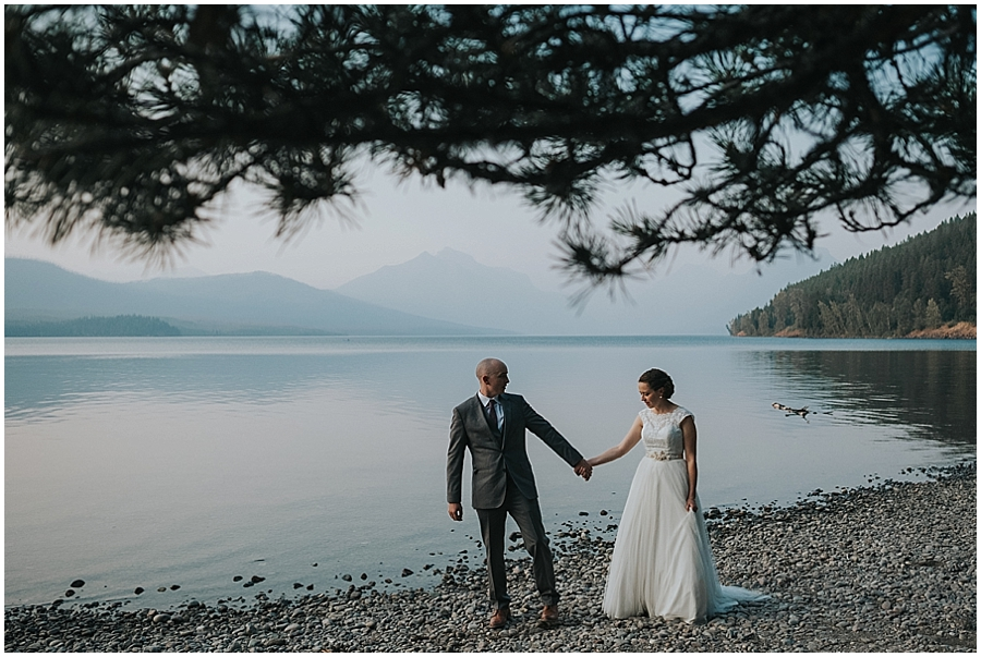 Glacier National Park Lake McDonald elopement