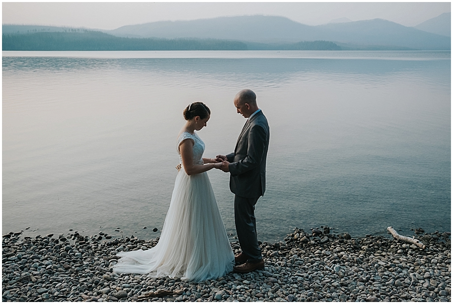 Lake McDonald outdoor elopement