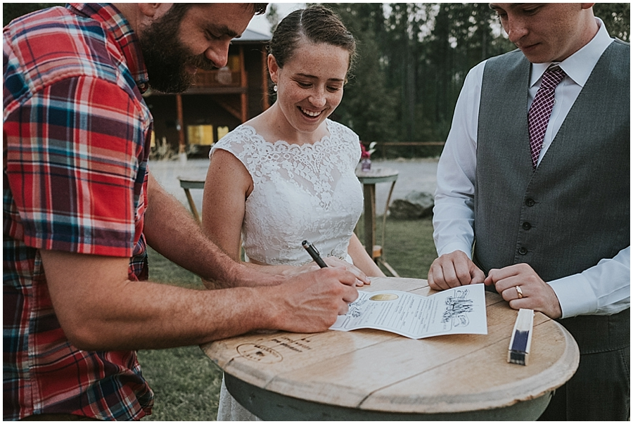 Kalispell outdoor elopement