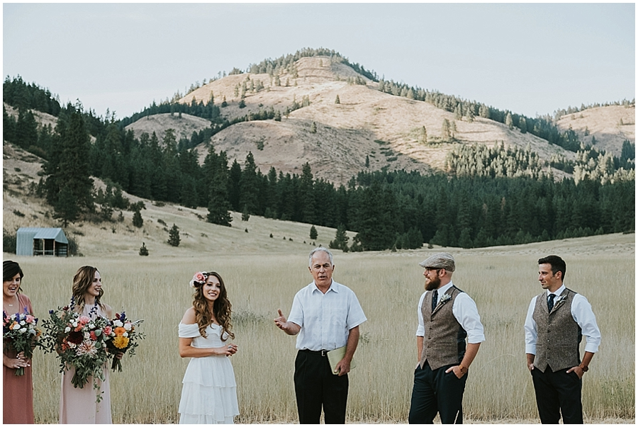 Winthrop Washington outdoor wedding