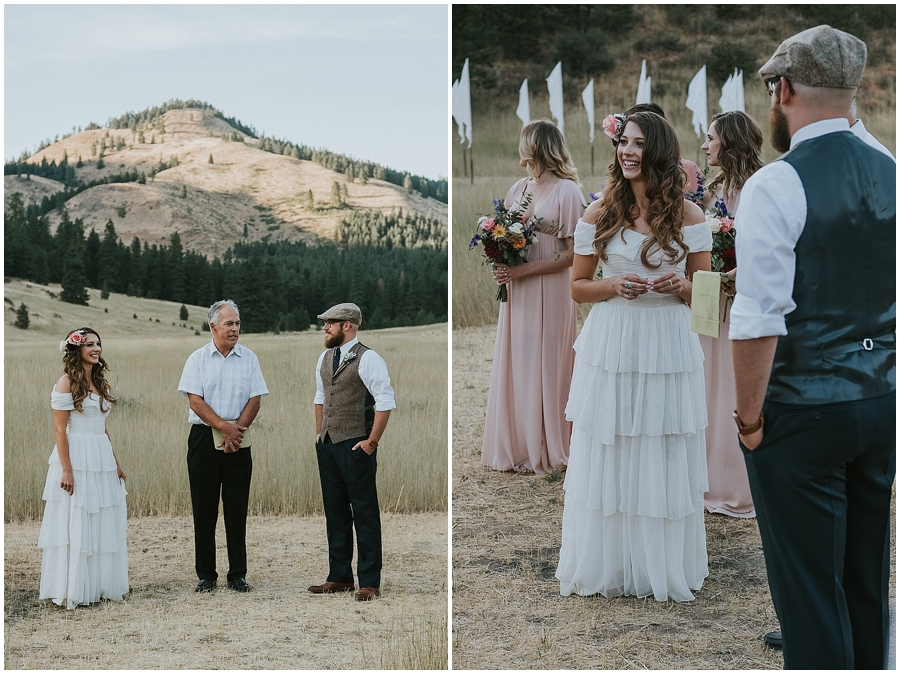 Twisp Washington outdoor wedding