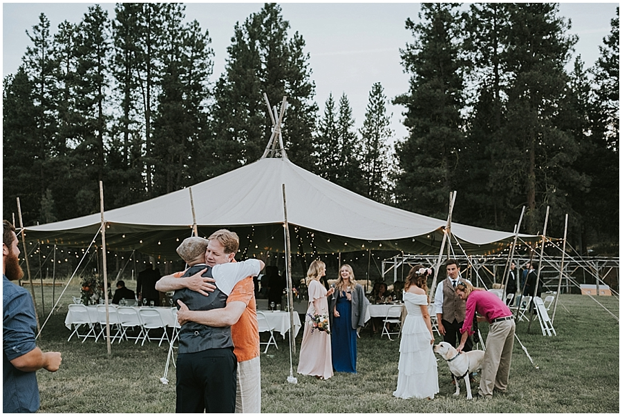 Eastern Washington outdoor wedding