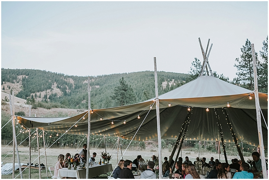 North Cascades National Park tipi wedding