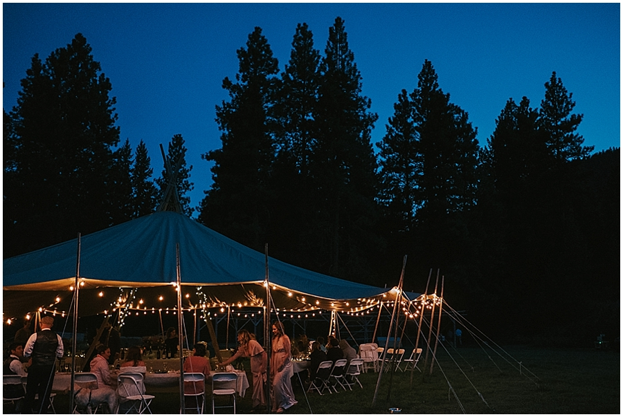 Washington teepee tipi wedding