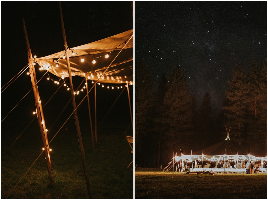 milky way over wedding venue