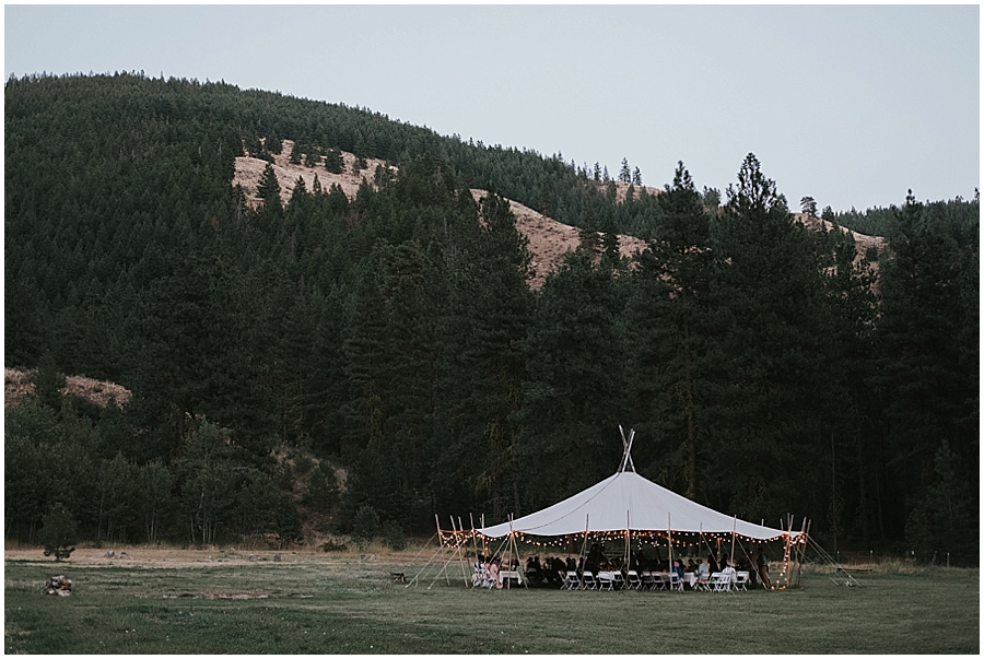 Pacific Northwest tipi wedding in Washington