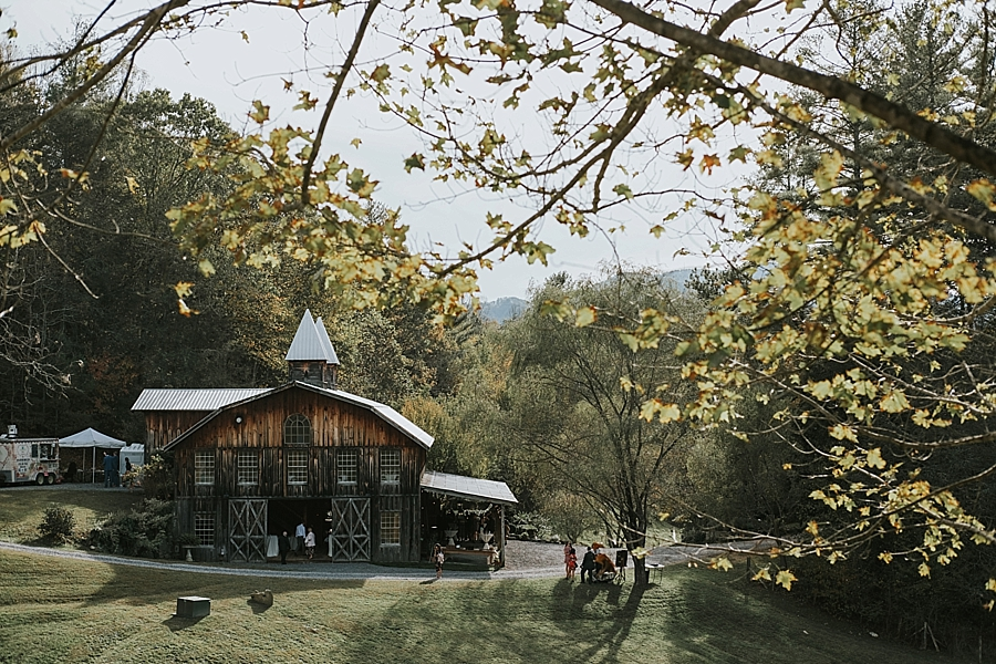 Asheville Wedding Barn Venue