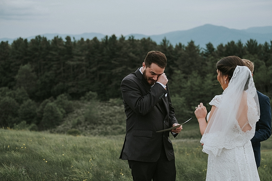 Max Patch Mountain elopement Asheville