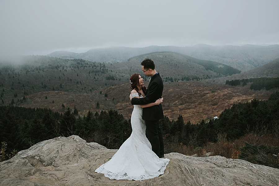 Black Balsam Asheville mountain elopement