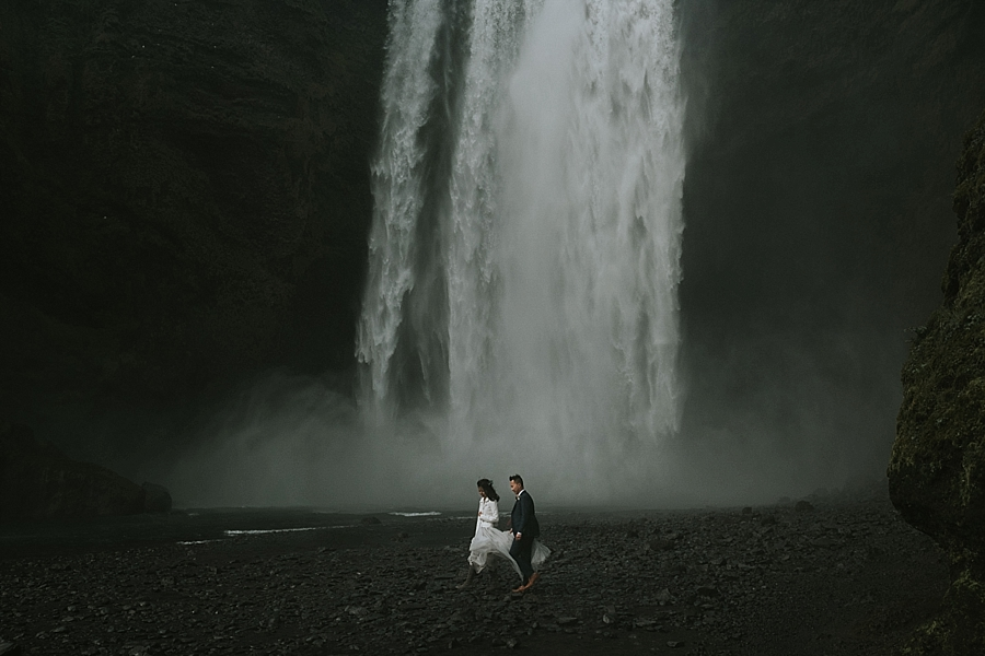 Skogafoss Iceland wedding