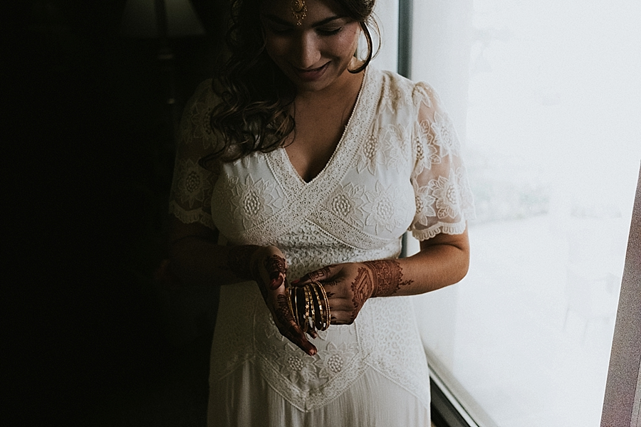 Asheville NC indian elopement