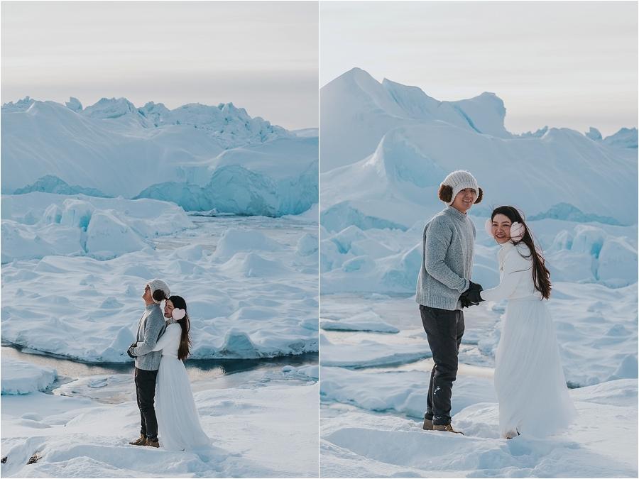 Alaska winter elopement