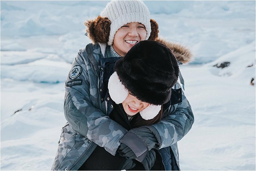 outdoor winter wedding arctic