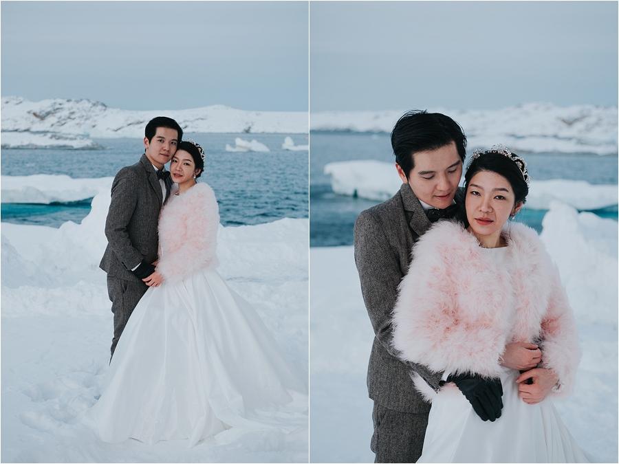 winter themed wedding