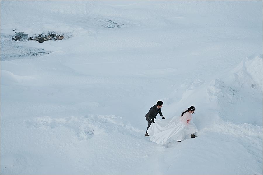 winter adventure elopement