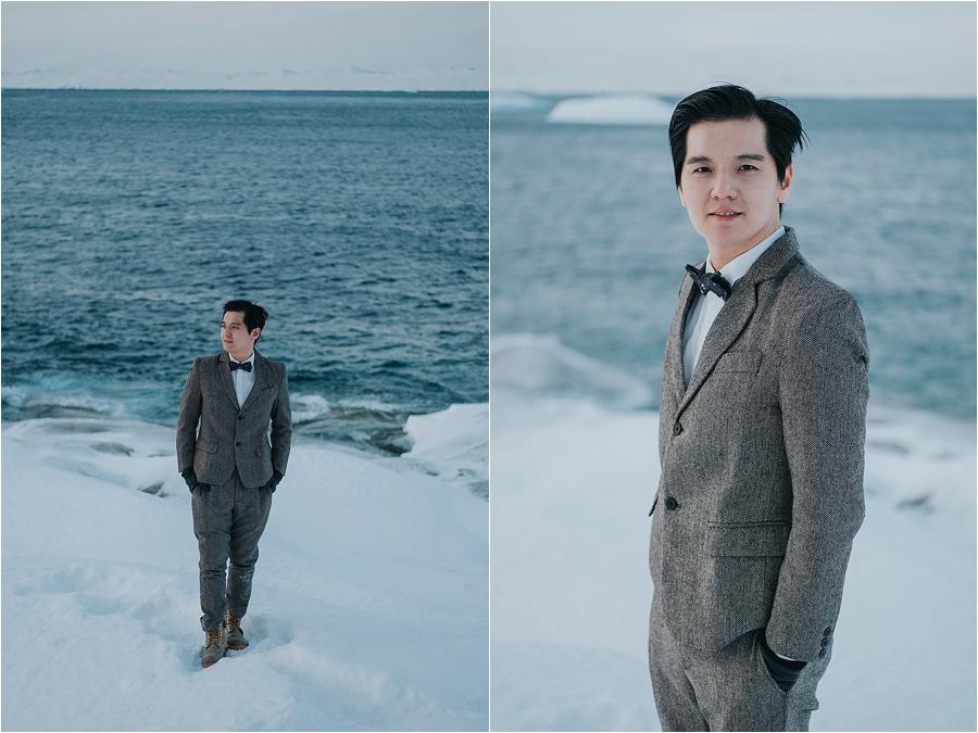 winter wedding in snow