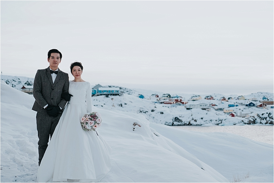 christmas themed wedding in north pole