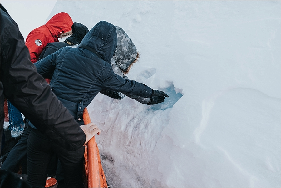 Greenland polar ice cap