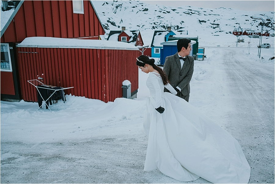 Norway winter elopement